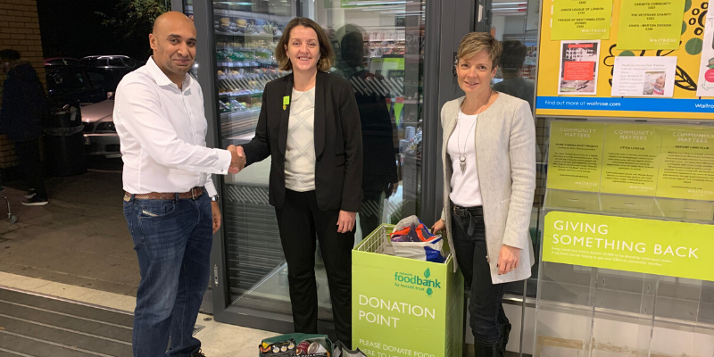 Aldermore and Waitrose food bank